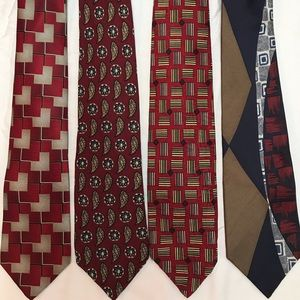 Silk Neck Ties (lot of 4)